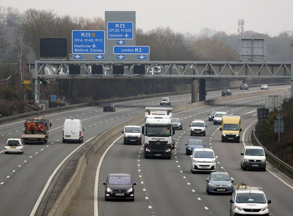 Highways England has announced it is changing its name to National Highways (Steve Parsons/PA) (PA Wire)
