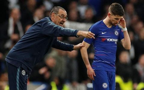 Sarri and Jorginho had little time to implement the Napoli style before Chelsea's season began - Credit: ACTION IMAGES
