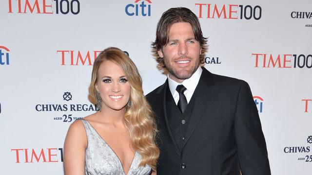 """Mr. <strong>Carrie Underwood</strong> is taking on a whole new meaning! The country superstar's husband, NHL star <strong> Mike Fisher</strong>, was hilariously identified as """"married to someone famous"""" in a televised interview with Nashville's local NBC affiliate. Ever the good sport, the athlete shared the moment on Instagram. <strong>WATCH: Carrie Underwood Stuns in First Post-Baby Appearance</strong> """"Had a good laugh at this!"""" the 35-year-old captioned the image. And it looks like Mrs. Mike Fisher was just as amused! Underwood re-posted the image, adding the caption """"First name: Someone. Last name: Famous."""" <strong>WATCH: Meet Carrie Underwood and Mike Fisher's Baby Boy, Isaiah</strong> No matter what you call them, Underwood and Fisher make an undeniable power couple. The singer recently scored the 21st No. 1 single of her career with """"Little Toy Guns,"""" while Fisher just last week inked a new two-year contract extension with the Nashville Predators worth a reported $8.8 million. ET was with Underwood backstage at the CMT Awards earlier this month, where we broke the news that she had just become the No. 1 CMT Awards winner of all time! Watch her adorable reaction in the video below."""