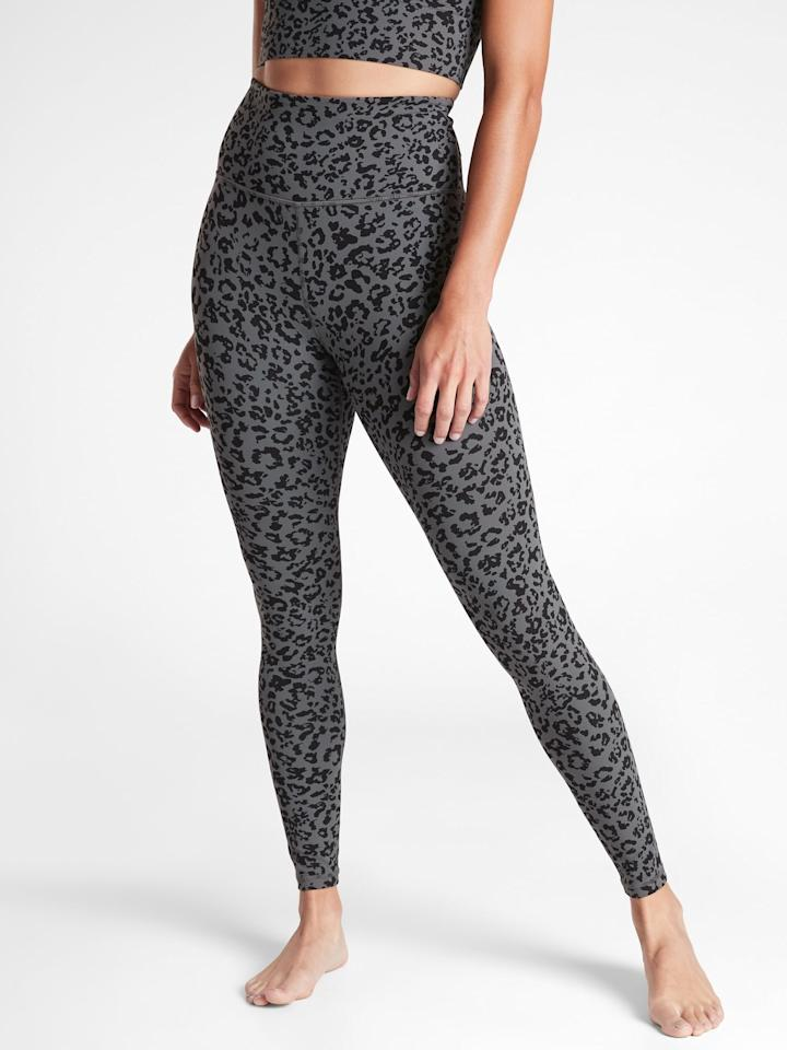 "<p>Not only do we love animal print, but we also love these <product href=""https://athleta.gap.com/browse/product.do?pid=501019022&amp;cid=1151334&amp;pcid=1089437&amp;vid=1&amp;grid=pds_66_120_1#pdp-page-content"" target=""_blank"" class=""ga-track"" data-ga-category=""internal click"" data-ga-label=""https://athleta.gap.com/browse/product.do?pid=501019022&amp;cid=1151334&amp;pcid=1089437&amp;vid=1&amp;grid=pds_66_120_1#pdp-page-content"" data-ga-action=""body text link"">Athleta Leopard Elation Ultra High Rise Tights</product> ($89). They're ideal for yoga, as well as lounging around and moving to and from. If you need a new go-to legging, these are it.</p>"