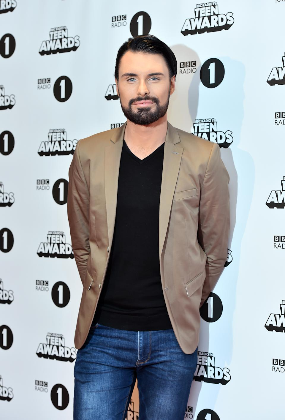 Rylan Clark Neal attending the BBC Radio 1 Teen Awards, held at the SSE Wembley Arena in London. See PA Story SHOWBIZ Teen.