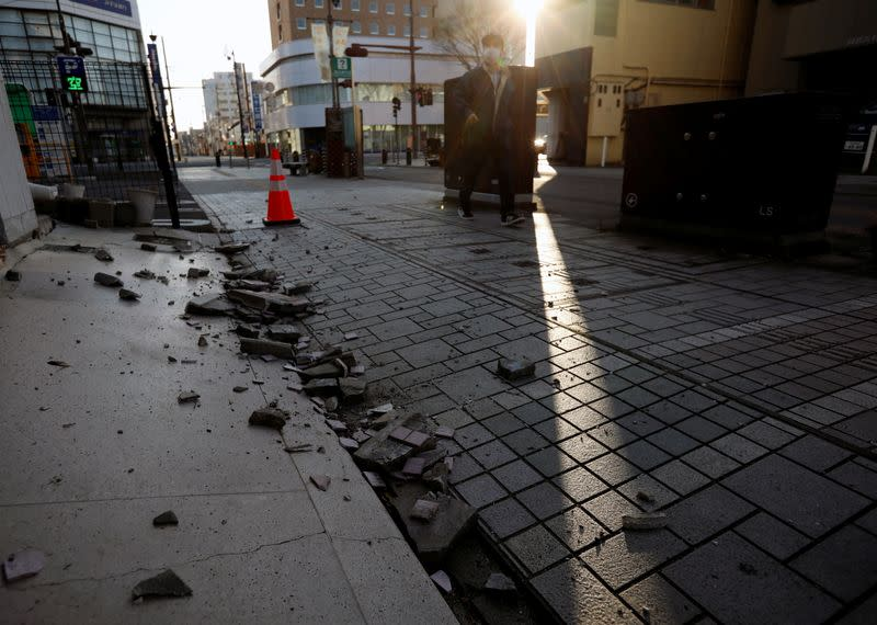 Aftermath of Earthquake in Fukushima prefecture, Japan
