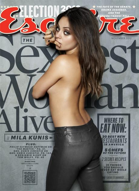Mila Kunis on the cover of Esquire's November 2012 cover -- Esquire