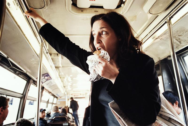 Only the privileged can afford to eat on public transport