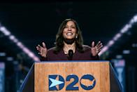 Kamala Harris accepted the Democratic Party's nomination to be White House candidate Joe Biden's running mate in the November 3, 2020 election