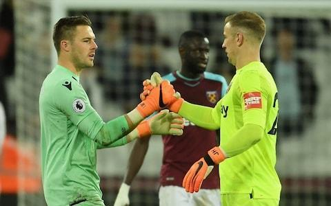 <span>Southgate says the three goalkeepers he chose have had 'better seasons' than Hart</span> <span>Credit: Getty images </span>