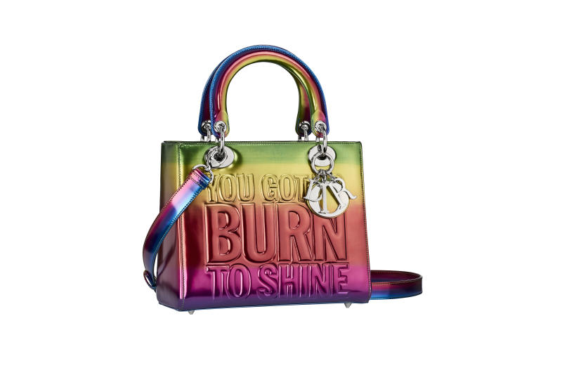 One of the two Lady Dior bags designed by John Giorno - Dior Lady Art   d143fb650e26b