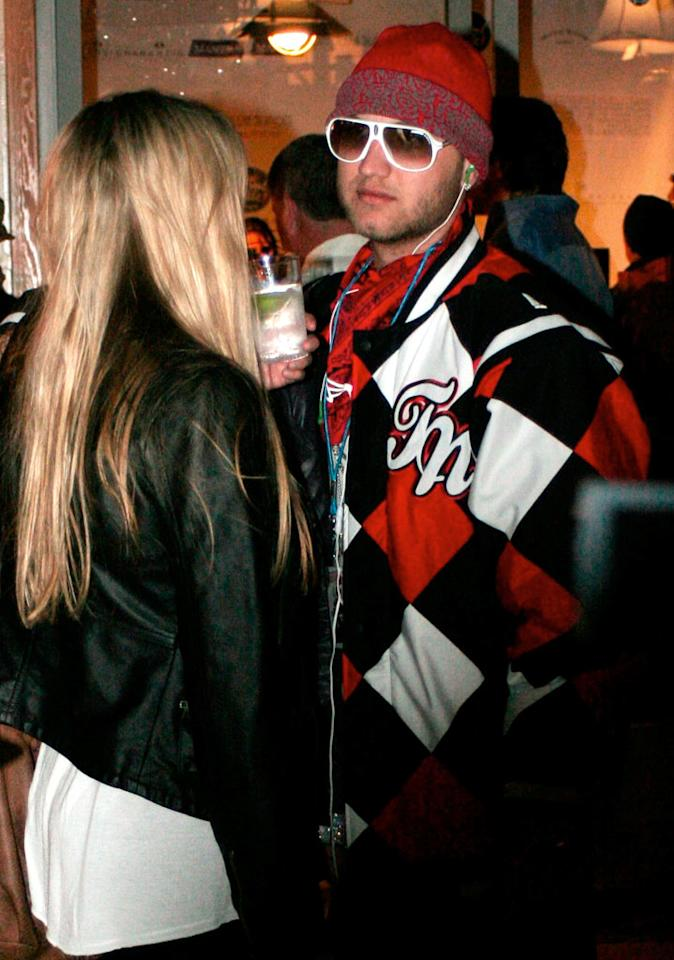 "Sundance attracts Hollywood's elite, but also its dregs. Somehow, D-lister Nick Hogan and his girlfriend managed to get invited to Park City. G/<a href=""http://www.x17online.com"" target=""new"">X17 Online</a> - January 18, 2009"