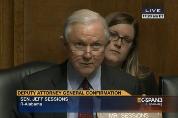 Jeff Sessions questions Sally Yates during her 2015 confirmation hearing.