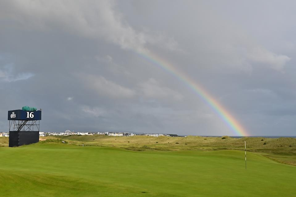 General view of the 16th hole during the first round of the 148th Open Championship held on the Dunluce Links at Royal Portrush Golf Club on July 18, 2019 in Portrush, United Kingdom. (Photo by Stuart Franklin/Getty Images)