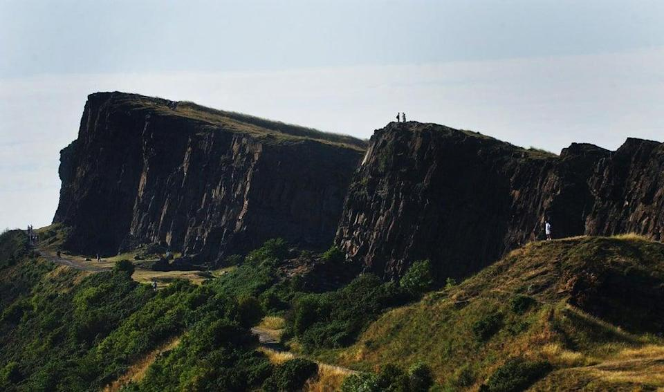 Ambulance and fire services attended the scene at Arthur's Seat (Danny Lawson/PA) (PA Archive)