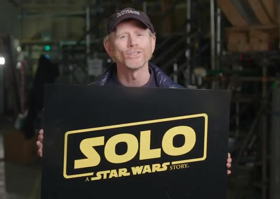 Ron Howard reveals the title of 'Solo: A Star Wars Story' (credit: Ron Howard/Lucasfilm, Twitter)