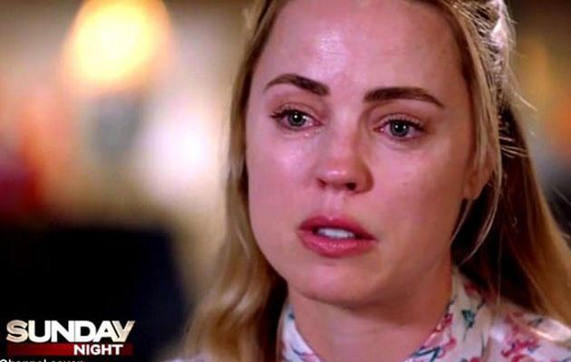Melissa opened up about a alleged domestic violence during the emotional interview. Photo: Sunday Night
