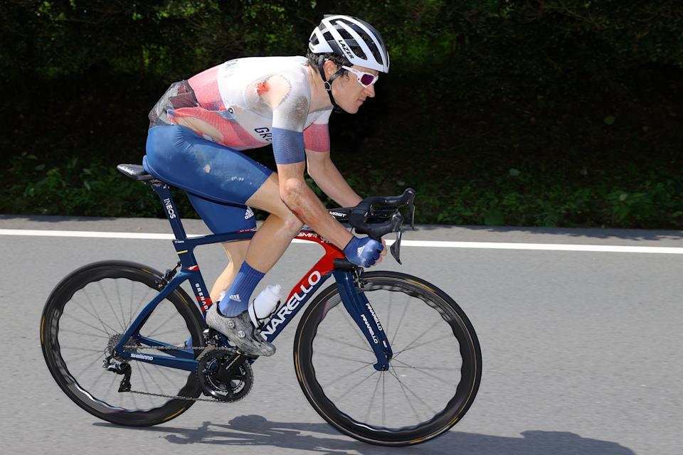 Geraint Thomas pulled out of the Tokyo 2020 road race following a 'freak' crash with fellow Brit Tao Geoghegan Hart (Picture: Reuters)