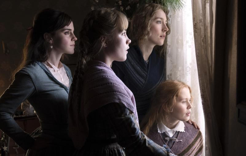Emma Watson, Saoirse Ronan, Eliza Scanlen and Florence Pugh play the March sisters in Greta Gerwig's new adaptation of 'Little Women' (Photo: Wilson Webb/Sony Pictures)
