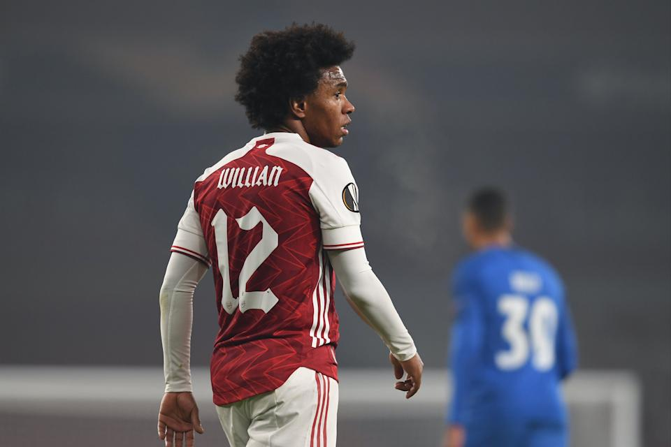 <p>Arsenal winger Willian was pictured in Dubai during the international break</p>Arsenal FC via Getty Images