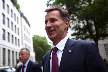 Britain's Foreign Secretary Jeremy Hunt arrives at his home in London, Britain, May 28, 2019. REUTERS/Hannah Mckay