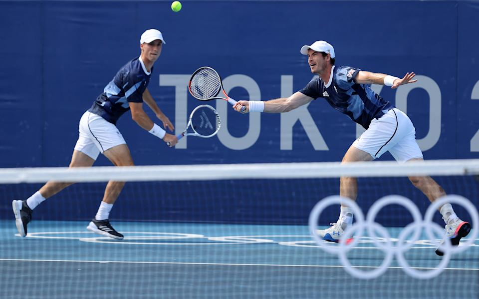 Andy Murray and Joe Salisbury face off against Croatia (Getty Images)