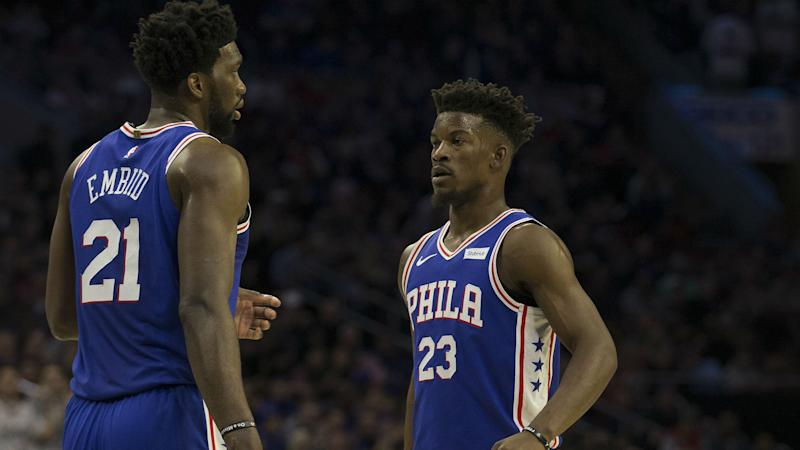 ece185d6c151 NBA playoffs 2019  Jimmy Butler defends Joel Embiid after 76ers  36-point  loss to Raptors
