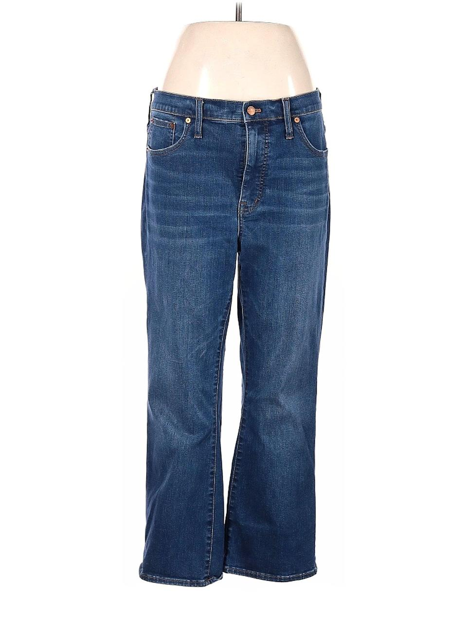 <p>Madewell recently partnered with ThredUp on its Madewell Forever curation, which allows customers to trade in their pre-loved denim at a more affordable price. These <span>Madewell High-Rise Straight-Leg Jeans in Medium Wash</span> ($46) ship from Georgia and were originally $130!</p>