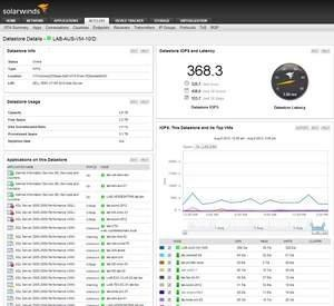 SolarWinds Extends Virtualization Monitoring and Visibility From Application to Datastore