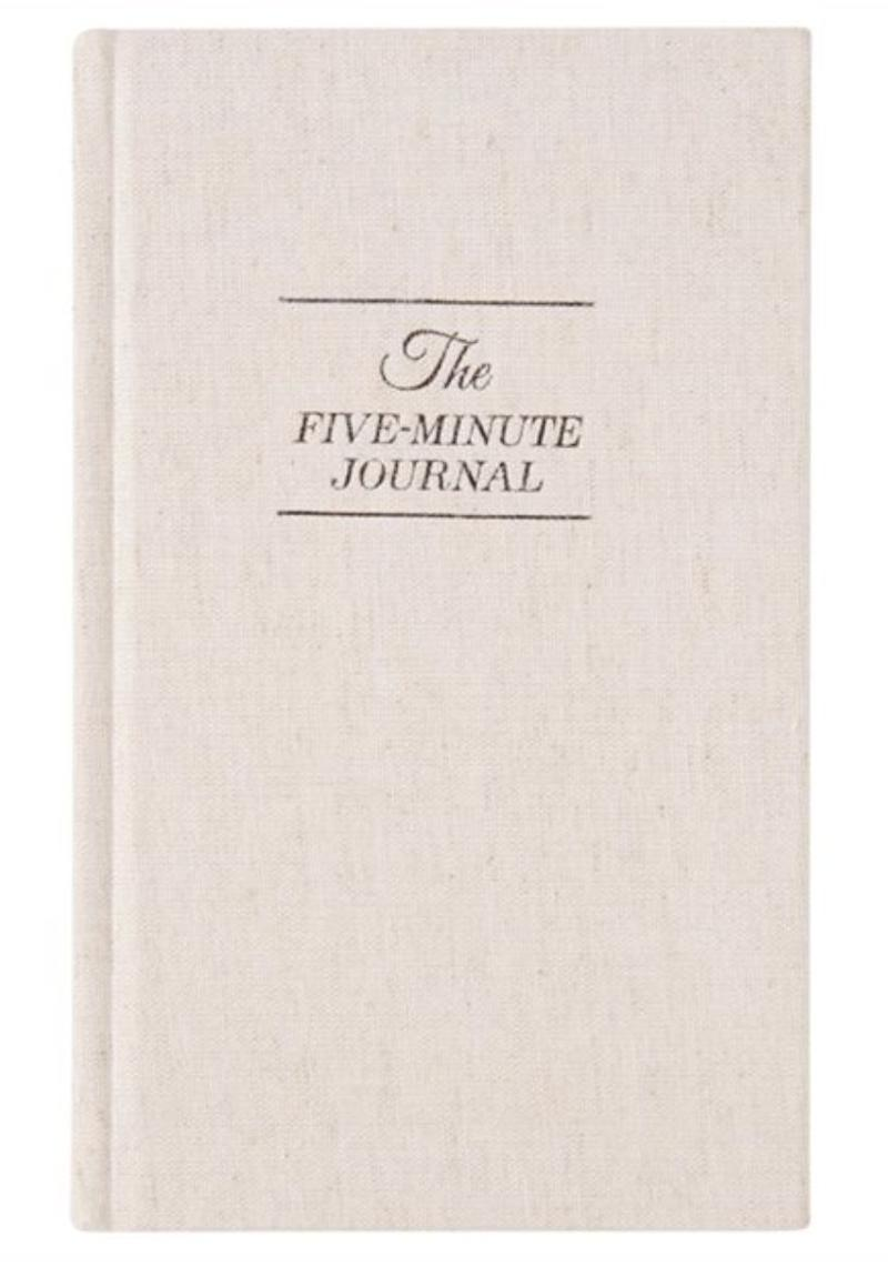 """Any stressed parent could benefit from a little gratitude and mindfulness, and this five-minute journal makes it easy. Get it at <a href=""""https://www.chapters.indigo.ca/en-ca/paper/the-five-minute-journal/9780991846207-item.html?ref=by-shop%3aseasonal%3aholiday-topgifts%3aholiday-shop-top-gifts-all%3a12%3a"""" target=""""_blank"""" rel=""""noopener noreferrer"""">Indigo</a>, $26.95."""
