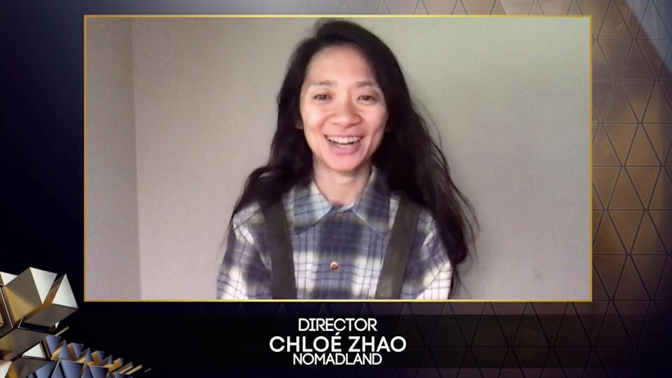 Chloe Zhao received best director and best filmvia REUTERS