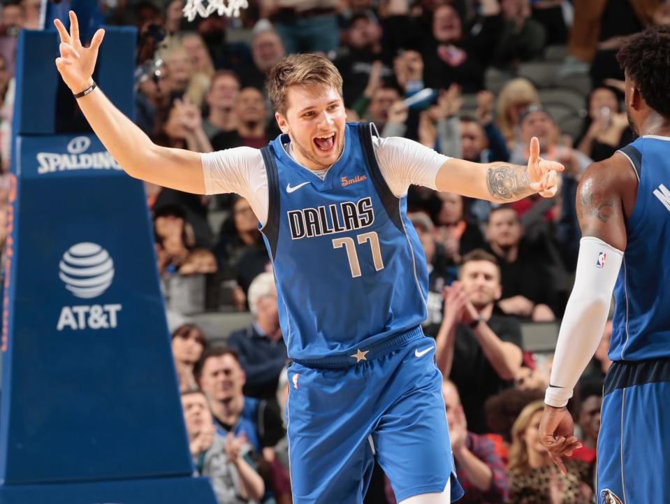 Luka Doncic continues to pay dividends for the Mavericks, who dealt for the rookie guard from the Hawks on draft night. (Getty)