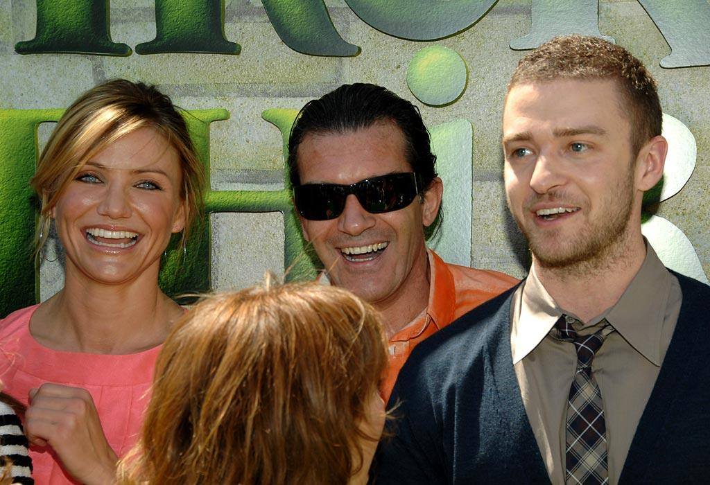 "After having been together for almost four years, Cameron Diaz and Justin Timberlake decided to call it quits in January. Although things were tense for awhile, the former couple were photographed together laughing and joking while promoting their film ""Shrek the Third."" Lester Cohen/<a href=""http://www.wireimage.com"" target=""new"">WireImage.com</a> - May 6, 2007"