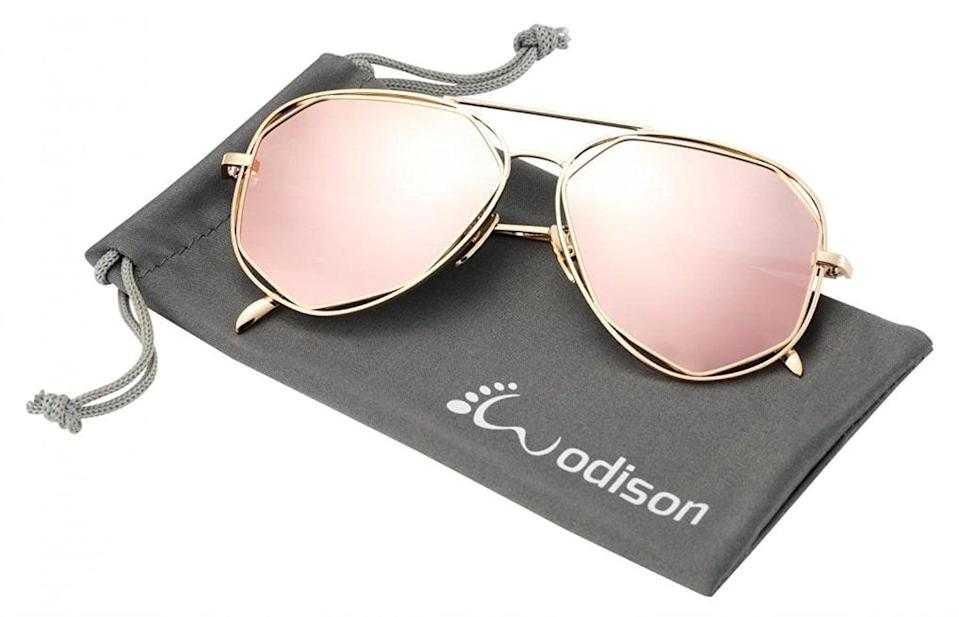 <p>The mirror lenses of these <span>Wodison Polarized Reflective Aviator Sunglasses</span> ($13) are designed to protect your eyes from glaring light. </p>