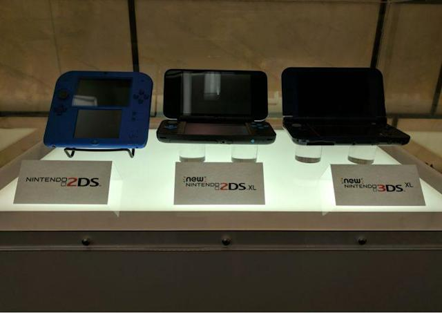 The entire 3DS line including the 2DS, New 2DS XL and the New 3DS XL.
