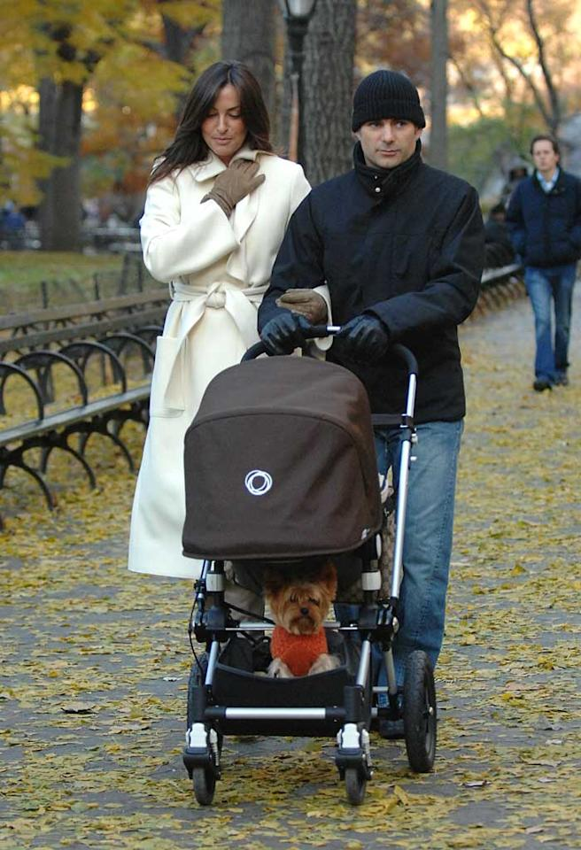 """NASCAR driver Jeff Gordon and his wife Ingrid avoided the holiday crowds by opting for a casual stroll through Central Park. Ronald Asadorian/<a href=""""http://www.splashnewsonline.com/"""" target=""""new"""">Splash News</a> - November 24, 2007"""