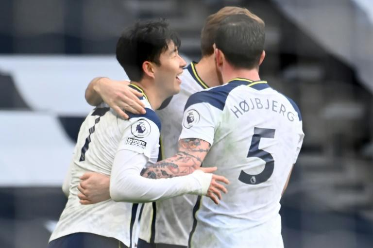 'Telepathic': Tottenham striker Son Heung-Min celebrates with teammates