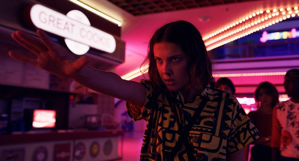 Millie Bobby Brown in the third series of Stranger Things (Netflix)