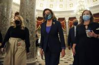U.S. House Speaker Nancy Pelosi (D-CA) walks to the floor of the House of Representatives in Washington