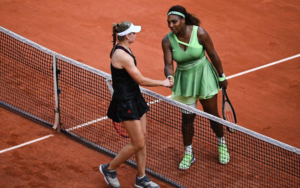 Rybakina was not born when Williams made her debut at Roland Garros - AFP
