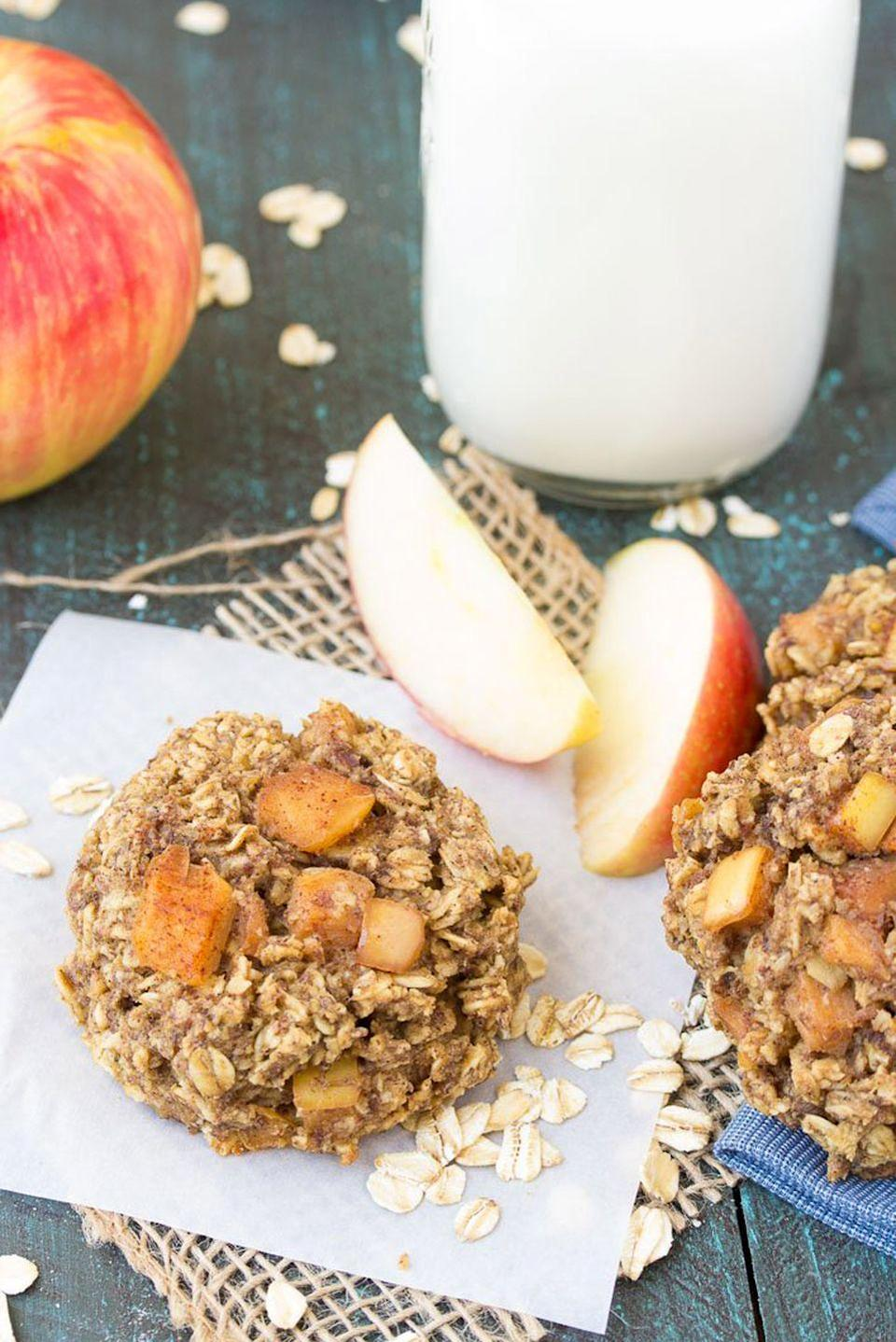 "<p>It's every kids' dream—cookies for breakfast! And don't worry about being the parent who's always serving sweets. This healthy treat is filled with whole grain oats, fresh apples, and spices.</p><p><strong>Get the recipe at <a href=""https://kristineskitchenblog.com/apple-pie-breakfast-cookies/amp/"" rel=""nofollow noopener"" target=""_blank"" data-ylk=""slk:Kristine's Kitchen"" class=""link rapid-noclick-resp"">Kristine's Kitchen</a>.</strong></p><p><a class=""link rapid-noclick-resp"" href=""https://www.amazon.com/OXO-Grips-Trigger-Cream-Scoop/dp/B00004OCIW?tag=syn-yahoo-20&ascsubtag=%5Bartid%7C10050.g.650%5Bsrc%7Cyahoo-us"" rel=""nofollow noopener"" target=""_blank"" data-ylk=""slk:SHOP ICE CREAM SCOOPS"">SHOP ICE CREAM SCOOPS</a><br></p>"