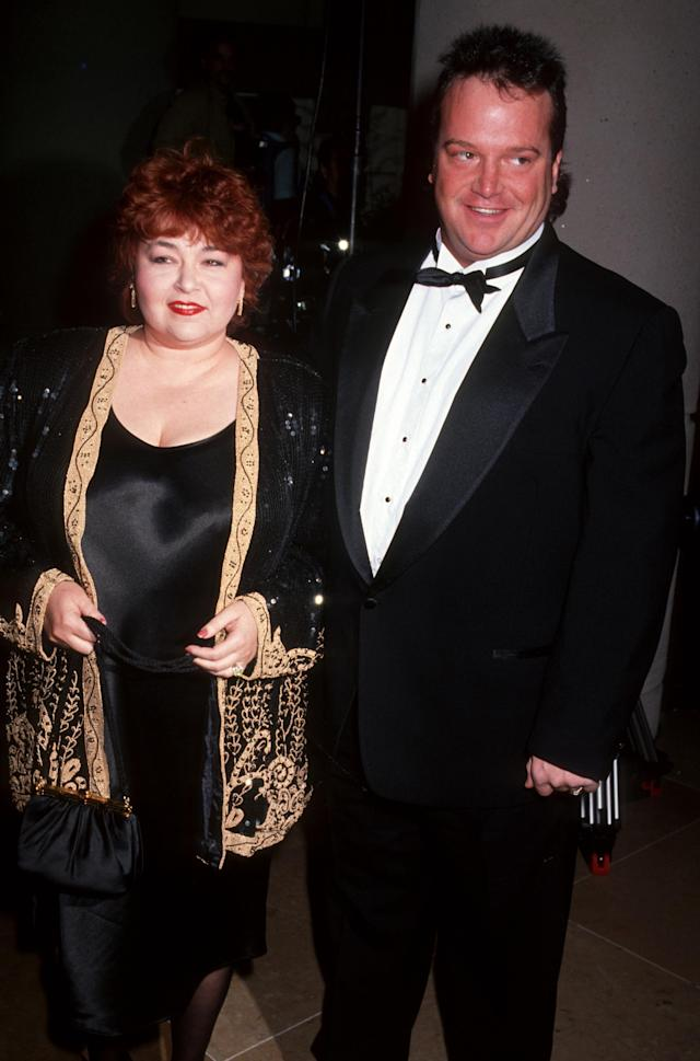 Roseanne and Tom Arnold at the Golden Globes in January 1991 (Photo: Getty Images)