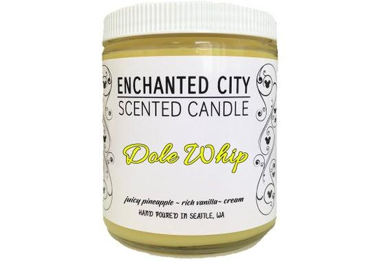 """<p><strong>enchantedcitycandles</strong></p><p>etsy.com</p><p><strong>$13.60</strong></p><p><a href=""""https://go.redirectingat.com?id=74968X1596630&url=https%3A%2F%2Fwww.etsy.com%2Flisting%2F630699089%2Fdole-whip-candle-disney-parks-scents-soy&sref=http%3A%2F%2Fwww.goodhousekeeping.com%2Fholidays%2Fgift-ideas%2Fg4859%2Fdisney-gifts%2F"""" target=""""_blank"""">Shop Now</a></p><p>All Disney fans know that Dole Whips are one of the top reasons to take a trip to one of the parks. With this pineapple-and-vanilla scented candle, they can take a trip back to happier times whenever they're in the mood.</p>"""