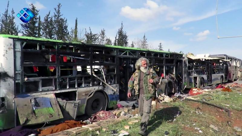 68 Kids Among 126 Killed After Blast Rocks Bus Convoy in Syria