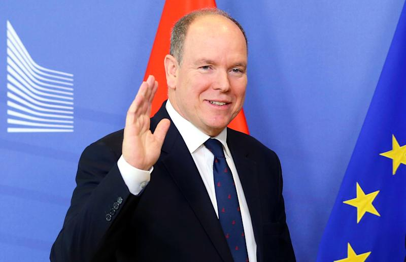 ANKARA, TURKEY - (ARCHIVE): A file photo dated on February 19, 2019 shows Albert II Prince of Monaco waving during his meeting at the European Commission in Brussels, Belgium. According to a statement from Monaco's Royal Palace on Thursday, Prince Albert tested positive for new coronavirus known as COVID-19. (Photo by Dursun Aydemir/Anadolu Agency via Getty Images)
