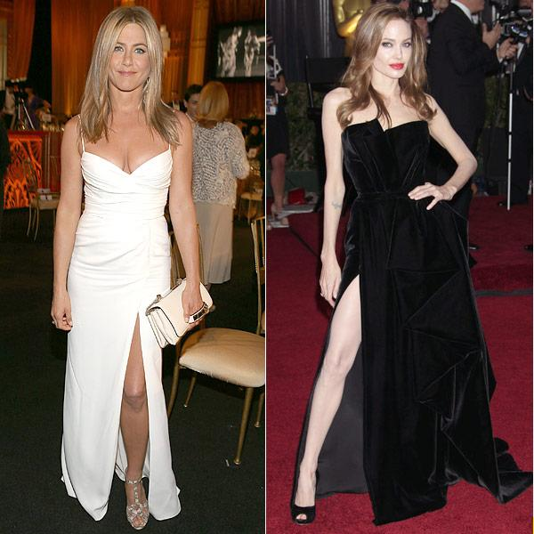 Jennifer Aniston V. Angelina Jolie: It's A Sexy Slit Showdown