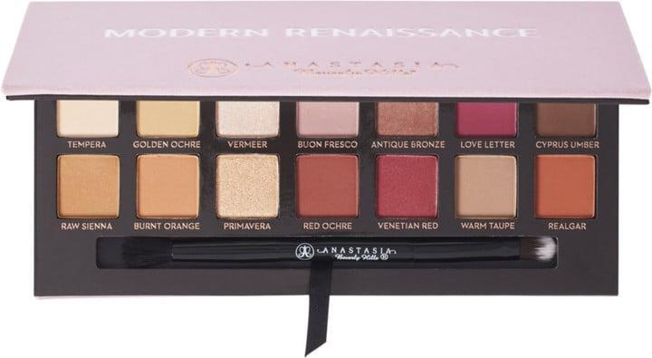 <p>Beauty bloggers are shamelessly obsessed with the <span>Anastasia Beverly Hills Modern Renaissance Eye Shadow Palette</span> ($42). Create a burgundy smoky eye with these hues; you'll be shocked by how flattering it looks.</p>