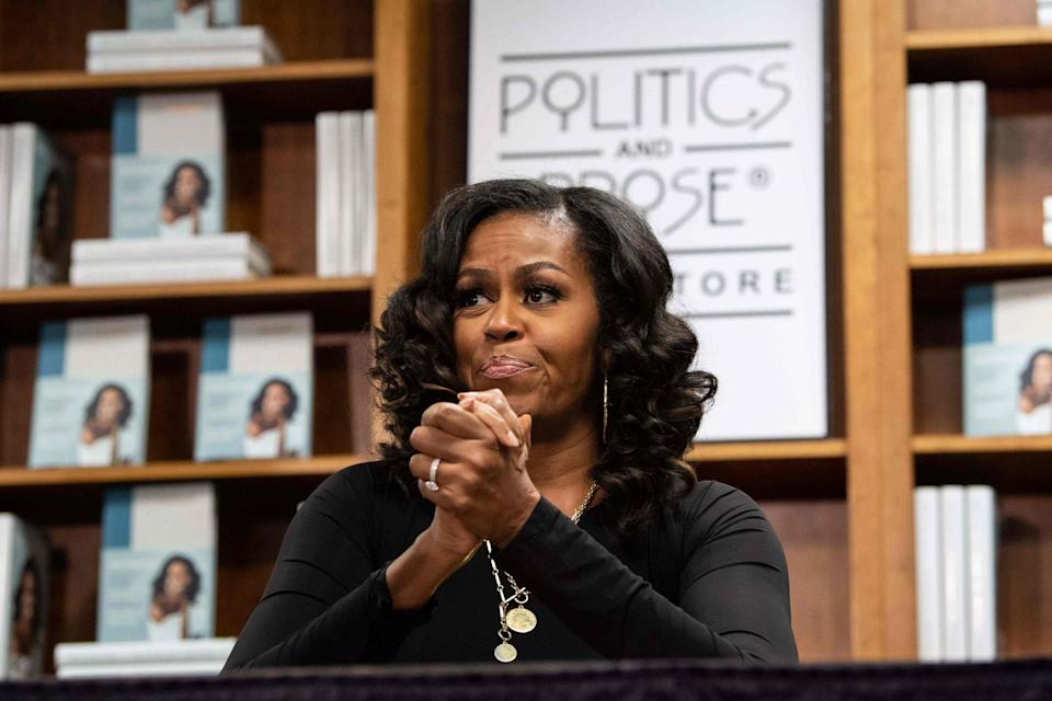 Former First Lady Michelle Obama said she had been feeling 'out of body, out of mind': AFP via Getty Images