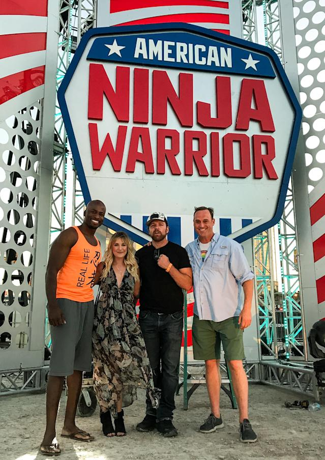 <p>It's time for a SMACK DOWN! Thanks for coming out to support the show @WWE Renee Young & Dean Ambrose! These two always bring the heat, but this time, I think Vegas took the cake with record breaking temps (I'm talking 117!). — @akbar_gbaja </p>