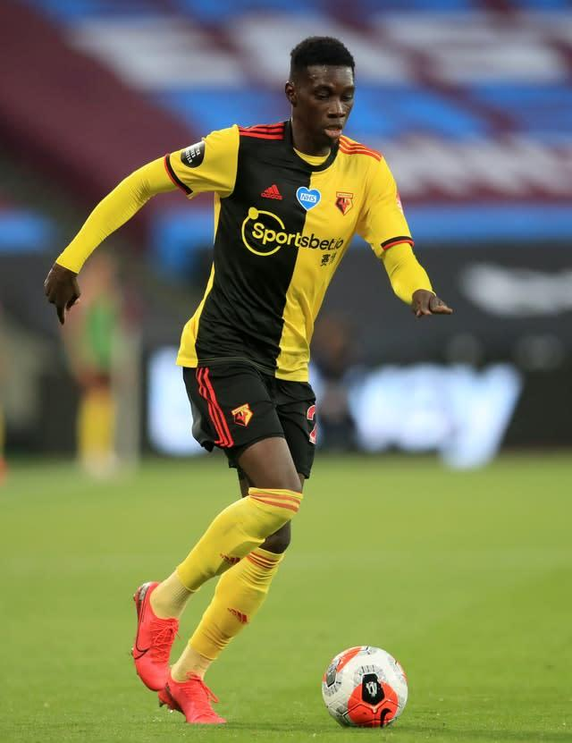 Watford's Ismaila Sarr is wanted by a trio of clubs (Adam Davy/PA)