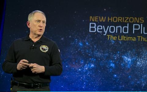 New Horizons principal investigator Alan Stern speaks during an overview of the New Horizons Mission - Credit: Getty
