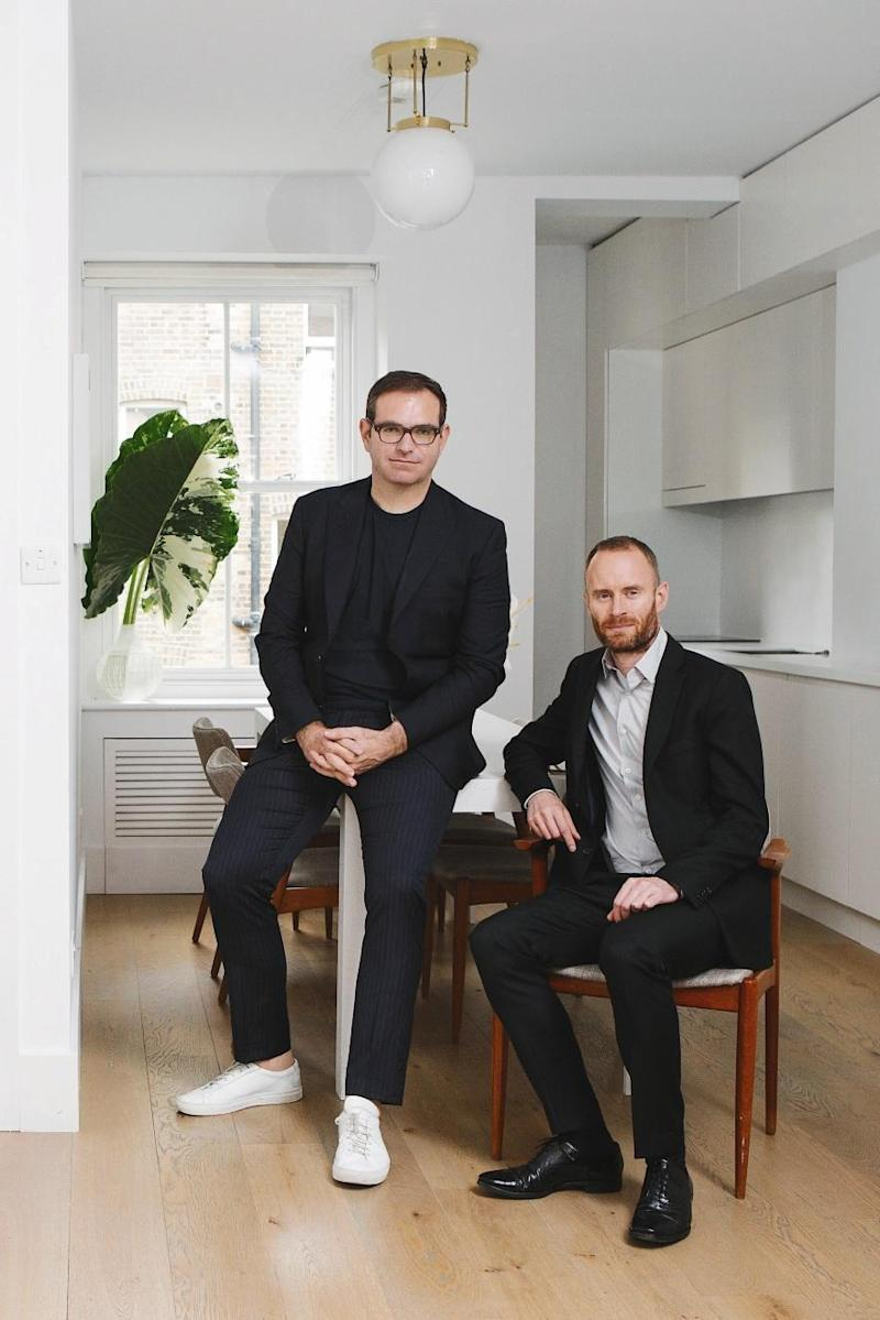 Style guys: Anthony Kendal, left, and husband, Rossa Prendergast