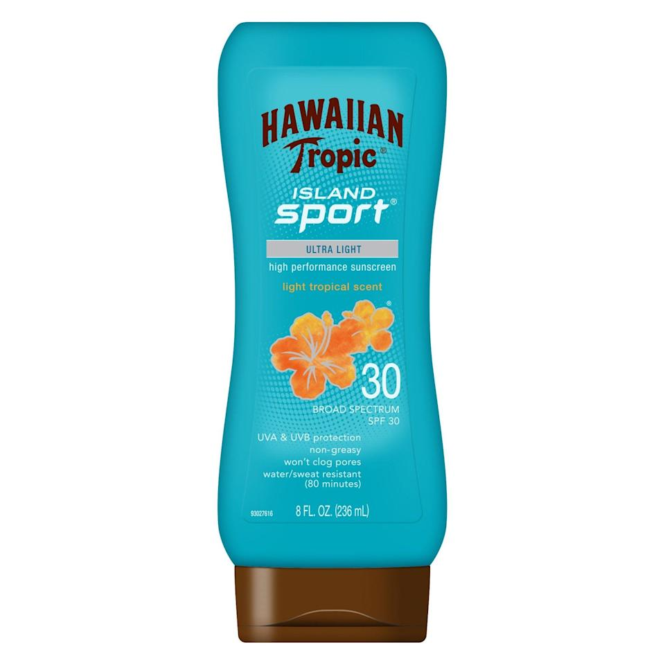 <p>Even if you're in the car all day, sun still shines through the windows. Protect your skin with the <span>Hawaiian Tropic Island Sport Lotion Sunscreen</span> ($9).</p>