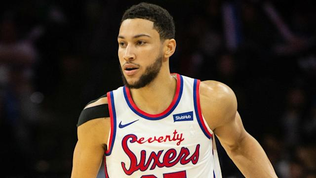 Ben Simmons kept former 76er Jimmy Butler quiet as the Miami Heat suffered a heavy loss in Philadelphia on Saturday.